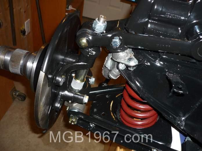 Boring MGB GT front suspension