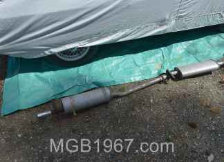 MGB GT ratty exhaust