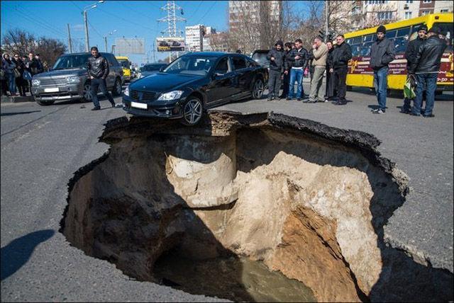 Russian pothole