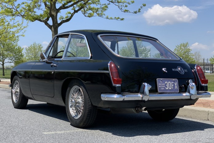1967 MGB GT exterior rear