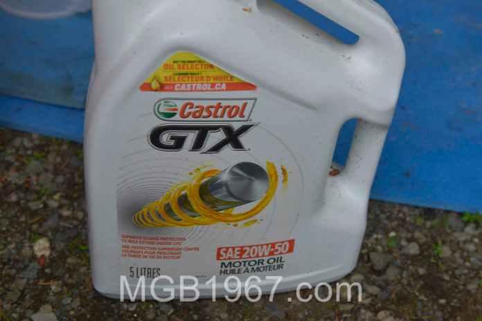 Castrol GTX 20W-50W oil