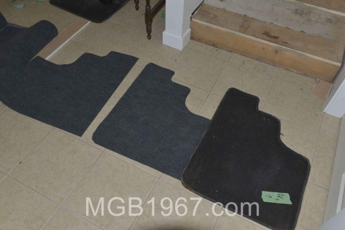 Practice car mats for Lotus Europa