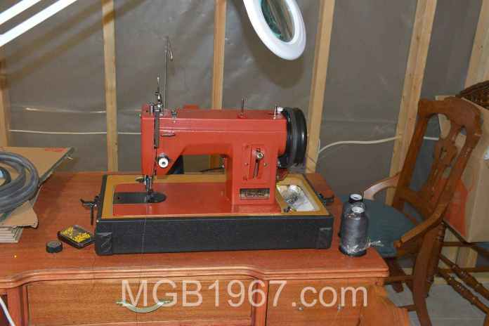 Sewing machine for MGB carpets