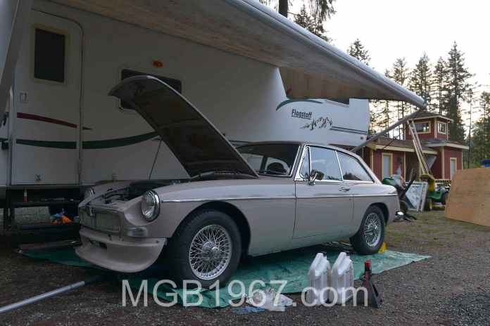 MGB GT not on a lift