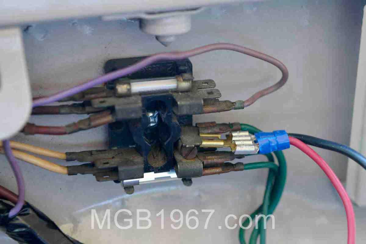 [XOTG_4463]  A 1967 MGB needs more than 2 fuses | 1967 MGB GT | Mgb Fuse Box |  | 1967 MGB GT