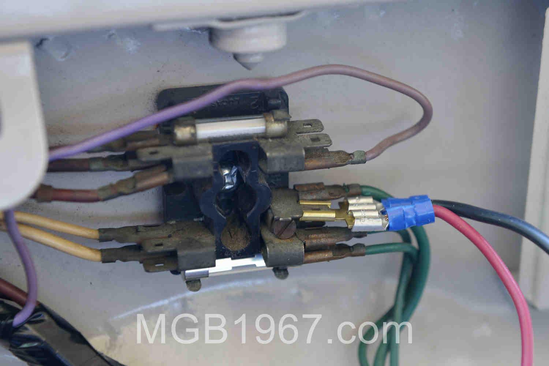 A 1967 MGB needs more than 2 fuses | 1967 MGB GT1967 MGB GT