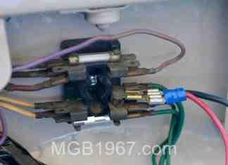MGB fuse box