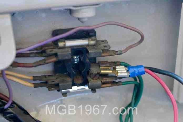 A 1967 MGB needs more than 2 fuses | 1967 MGB GT1967 MGB GT