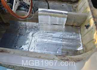 Noico 80 mil sound deadening mat in MGBB GT