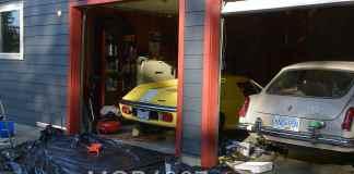 MGB and Lotus garage