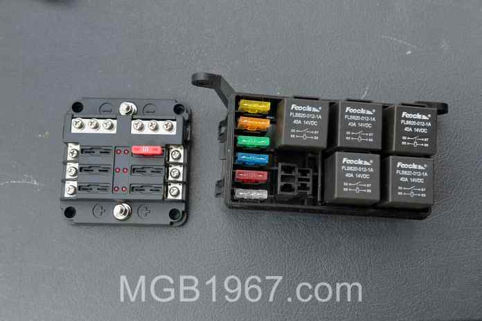 Fuse and Relay boxes MGB