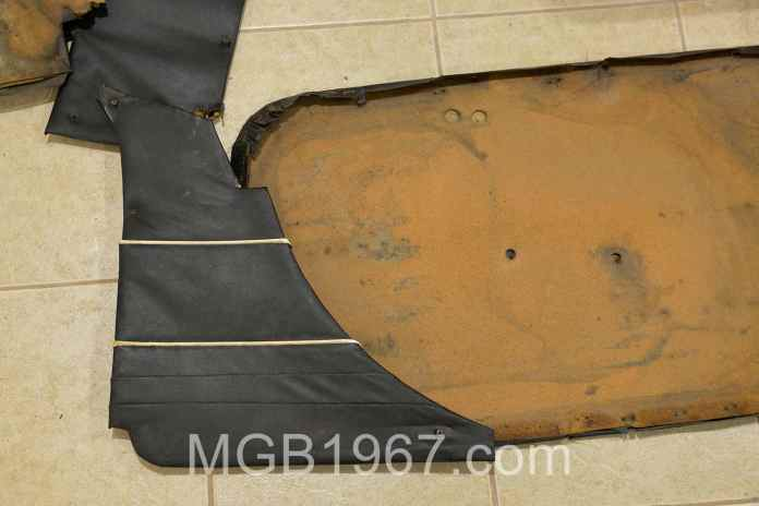 Tired MGB GT door panels
