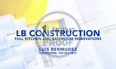 LB Construction Business Card (Front)