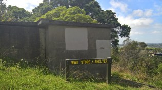WWII bunkers on top of Waiheke Island