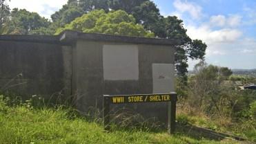 WWII bunkers on top of Waiheke Island