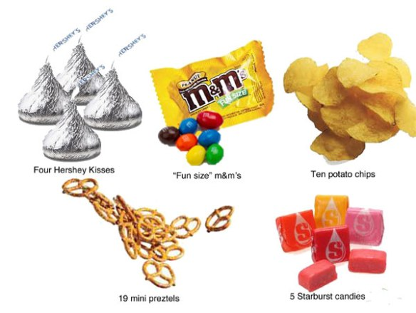 All of these are 100 calories.