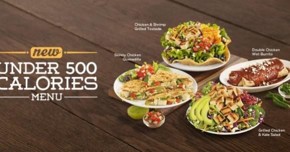 Image result for chilis 500 calorie menu