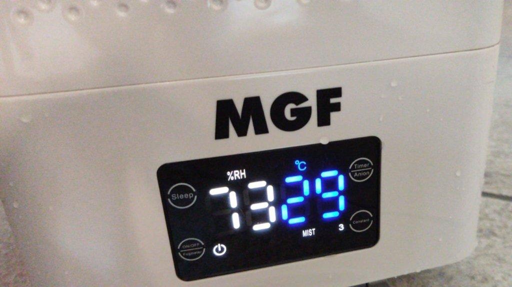 Nebulizzatore sanificante, visualizza temperatura e umidità