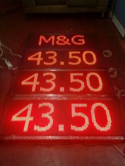 Signage Maker Philippines   LED Price Board Display   M&G Global