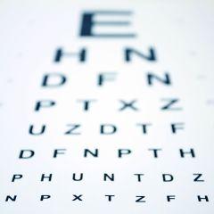 2705196 - snellen eye chart with shallow depth of field