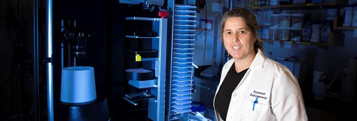 Cammie Lesser in her lab