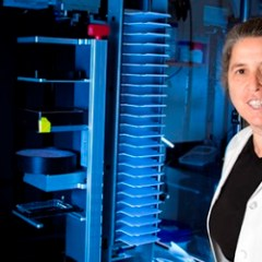 Cammie Lesser in her lab