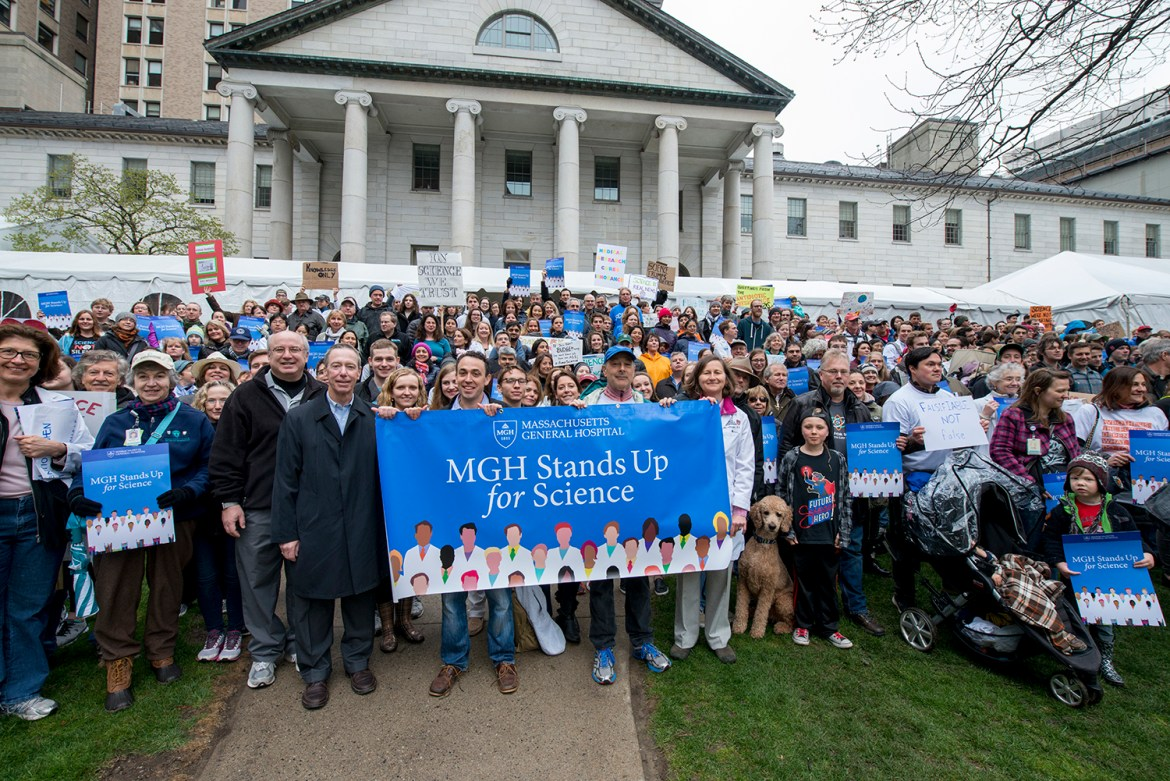 MGH March for Science w/ Dr. Slavin