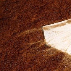 17914614 - home plate on baseball field with copy space