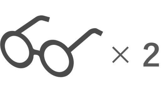 友「メガネいくつ持ってるの?」私「2本です」友「少なっ」