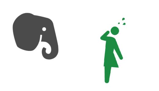Evernoteのロゴの象ってなんかエロい目してない?