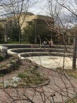 The amphitheater located in the Regional Garden has seats created from marble steps which were salvaged from the Capitol building