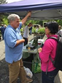 Garden coordinator Paul Nuhn is always ready to give gardening advice