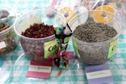 Herbal Sachet Making materials: Rose petals and Lavender buds