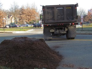 Mulch delivered by truck from Arlington County.