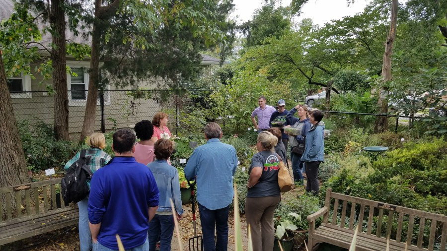 Master gardeners in pruning class