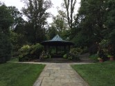 The Wedding Gazebo provides a quiet retreat in the heart of the garden.