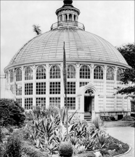 Palm House exterior, 1910 (Photo: Architect of the Capitol)]