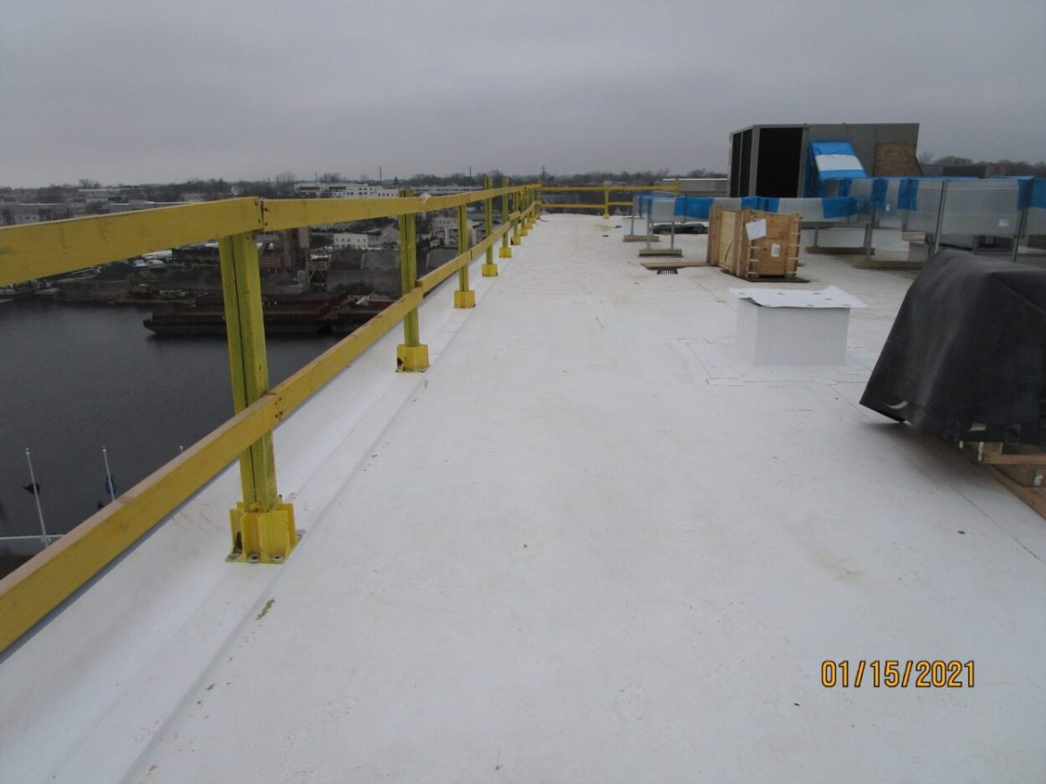 Tenant work project on a TPO roof