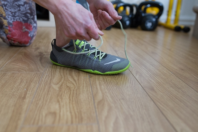 Tying up sneakers is sometimes all the fitness motivation you need