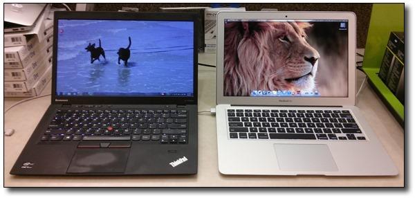 Lenovo-X1-Carbon-vs-Apple-Macbook-Air