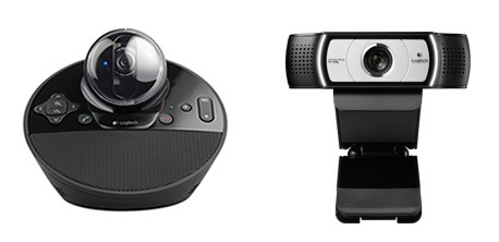 logitech-bcc950 & C930e webcams