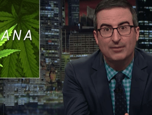 John Oliver, marijuana, news
