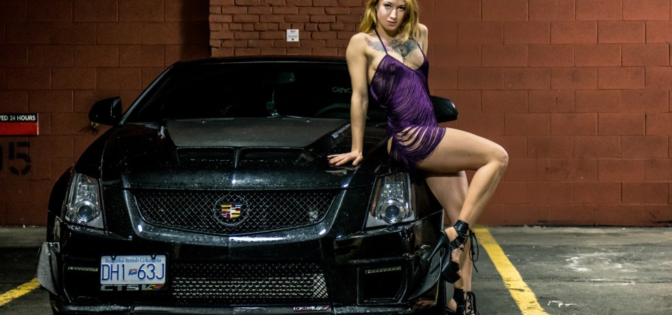 2011 cadillac cts-v with girl