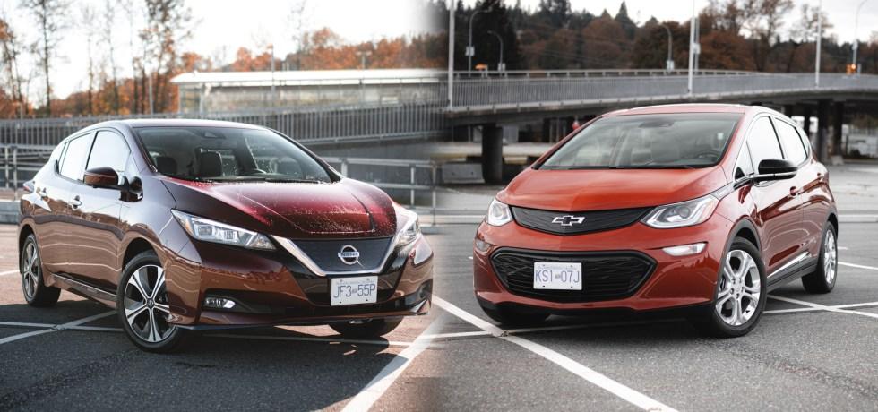 2020 Nissan Leaf Plus vs 2020 Chevrolet Bolt EV