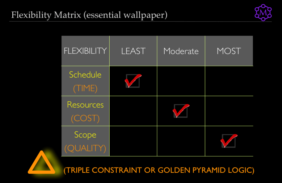 Triple Constraint Theory: Use a Flexibility Matrix to Build Consensus