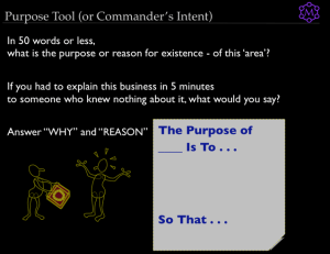 The Purpose Tool (or, Commander's Intent)
