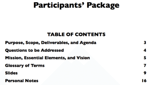 Participants' Package (Pre-read)