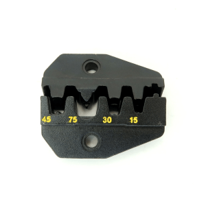 Die for ratcheting crimper for quick connect / disconnect DC Terminal and power connectors 7505-DIE-PP - Max-Gain Systems, Inc.