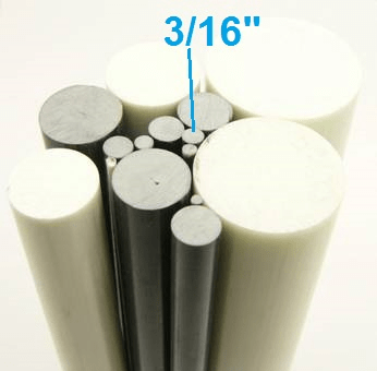 "3/16"" OD Round Solid Rod"