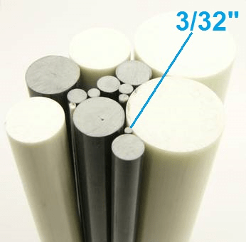 "3/32"" OD Round Solid Rod"